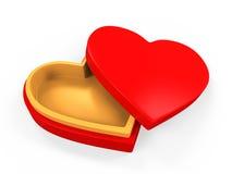 Heart Shaped Gift Box Royalty Free Stock Photography