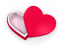 Heart Shaped Gift Box Stock Photo