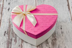 Heart Shaped Gift Box Stock Photography