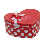 Heart shaped gift box with a ribbon Royalty Free Stock Photos