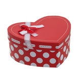 Heart shaped gift box with a ribbon Stock Images