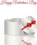 Heart shaped gift box Royalty Free Stock Images