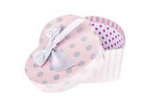 Heart shaped gift box Stock Images