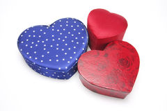Heart-shaped Gift Boxes Stock Photos