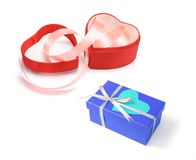 Heart-shaped Gift Boxes Royalty Free Stock Images