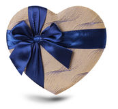 Heart shaped gift isolated on the white background Royalty Free Stock Image