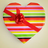 Heart-shaped gift Royalty Free Stock Images