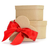 Heart-shaped gifts Stock Image