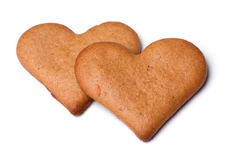 Heart-shaped gingerbread Royalty Free Stock Photo