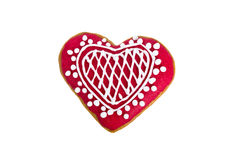 Heart shaped Gingerbread cookie isolated Royalty Free Stock Image