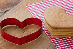 Heart shaped gingerbread cookies Stock Photography