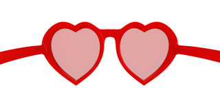 Heart-shaped glasses Royalty Free Stock Photos