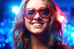 Heart-shaped glasses Stock Photography