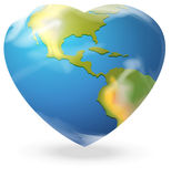 A heart-shaped globe Stock Photography