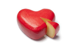 Heart shaped Gouda cheese Royalty Free Stock Image