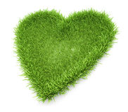 Heart shaped grass patch Stock Images