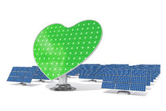 Heart shaped green solar panel leader Royalty Free Stock Photography