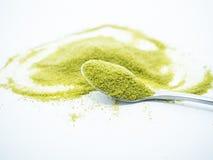 Heart shaped green tea Stock Image