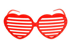 Heart-shaped grille shades. Heart shaped grille shades isolated on white Stock Image