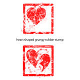Heart shaped grungy rubber stamp Royalty Free Stock Image