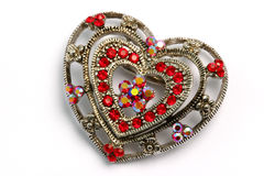 Heart shaped hair ornament 01 Royalty Free Stock Images