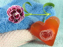 Heart Shaped Handmade Soap Stock Photography