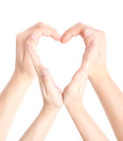 Heart shaped by hands Stock Photography