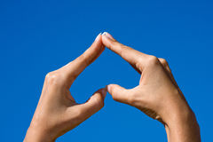 Heart shaped from hands Royalty Free Stock Image
