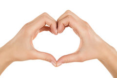 Heart shaped hands Stock Photos