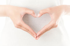 Heart shaped hands Stock Image