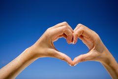 Heart shaped hands. Stock Images