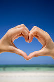 Heart shaped hands. Stock Image