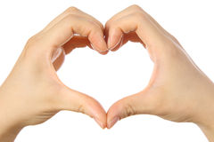 Heart shaped hands sign  Stock Photo