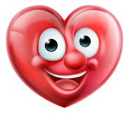 Heart Man Cartoon Character stock illustration