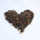 Heart shaped heap of tea Stock Photos