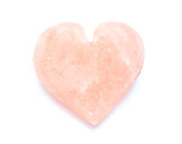 Heart-shaped himalayan salt Stock Images