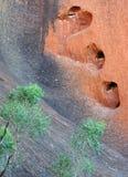 Heart shaped hole in rock Stock Photo