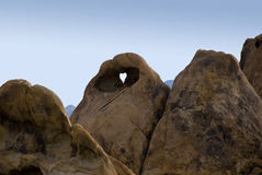 Heart Shaped Hole In The Rock Stock Images