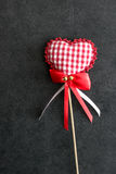 Heart shaped holiday love ornament Stock Images