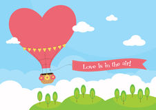 Heart Shaped Hot Air Balloon Royalty Free Stock Photography