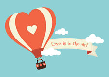 Heart Shaped Hot Air Balloon Stock Photography