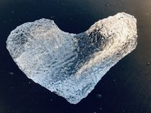 Heart-shaped ice stock photos
