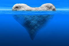 Heart shaped iceberg Royalty Free Stock Image
