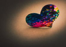 Heart shaped icon in view as love conception. Heart shaped object in view as love conception royalty free stock image