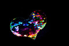 Heart shaped icon in view as love conception. Heart shaped object in view as love conception royalty free stock photos