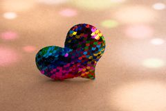 Heart shaped icon in view as love conception. Heart shaped object in view as love conception royalty free stock images