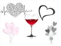 Heart-shaped illustration set Stock Photo