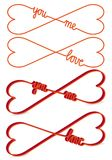Heart shaped infinity sign, vector Stock Images