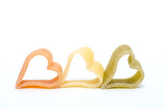 Heart shaped italian pasta Stock Photos