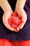 Heart shaped jelly Royalty Free Stock Photo